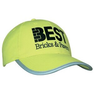 Luminescent Safety Cap w/Reflective Trim (Embroidered)