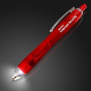White LED Light Tip Red Pen