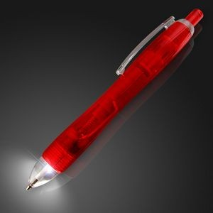 White LED Light Tip Red Pen - BLANK