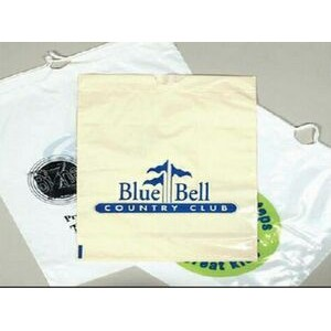 "Custom Printed Plastic Bag w/ Cotton Drawstring (20""x20""x5"")"