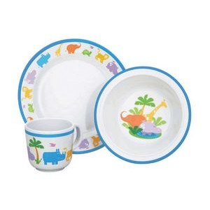 Reed & Barton Jungle Parade 3 Piece Dinner Set