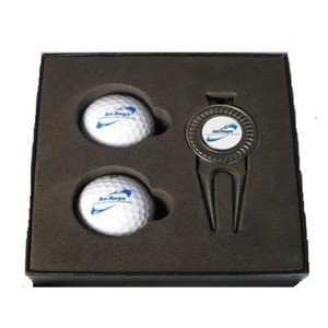 Golf Ball Box Set w/Ball Marker