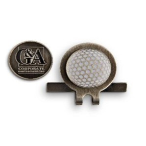 Hat Clip w/Golf Ball Designed Ball Marker