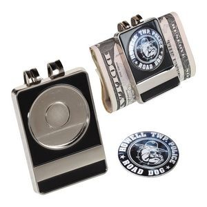 Money Clip w/ Offset Print Ball Markers (Nickel)