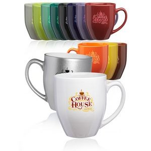 """Best Bistro Mug"" Glossy colors 16oz coffee mug. The perfect coffee mug."