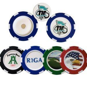 New Deluxe Poker Chip w/Removable Ball Marker
