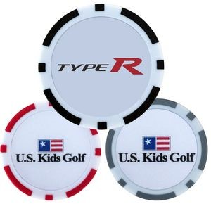 Full Color Poker Chip Ball Markers w/Double Sided Logo