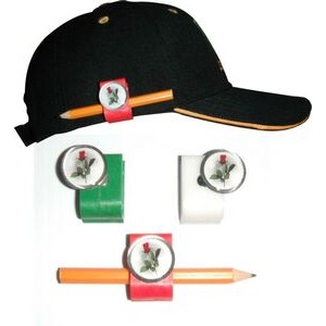"Ultimate Golf Clip Pencil Holder & 1"" Domed Custom Ball Marker"