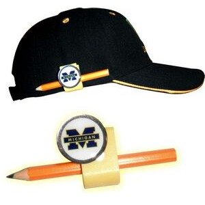 "Golf Clip Pencil Holder & 1"" Domed Full Color Custom Ball Marker Customized"