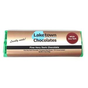 Fine Very Dark Chocolate Chunky Gourmet Bar With Sea Salt