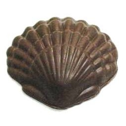 5.76 Oz. Chocolate Clam Shell W/Ripples XLG
