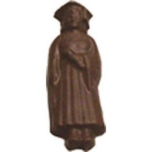 0.8 Oz. Chocolate Graduate Girl In Gown