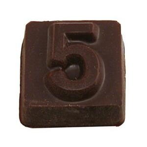 Number Block 5 Stock Chocolate Shape