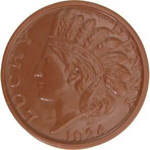 0.08 Oz. Small Chocolate Indian Head Coin