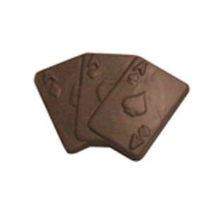 0.4 Oz. Chocolate Playing Cards 3 Aces Playing Cards
