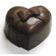 4.00 Oz. Small Chocolate Heart Box w/Bow