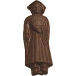 0.8 Oz. Chocolate Graduate Boy In Gown
