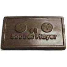 1.44 Oz. #1 Soccer Player Chocolate Business Card Bar
