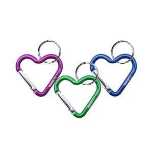 Heart Shaped Carabiner with Key Ring