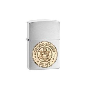 Zippo® Chrome Military Crests Lighter