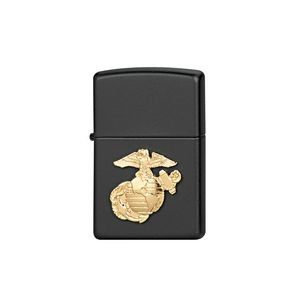 Zippo® Black Marine Corps Crests Lighter