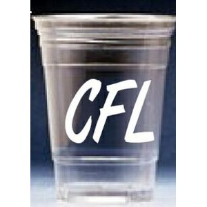 10 Oz. Tall Soft Sided Clear Plastic Cup