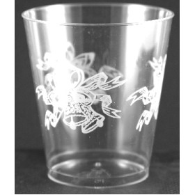 8 Oz. Tall Hard Sided Clear Plastic Cup