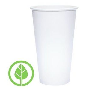 20 Oz. BLANK Eco-Friendly PLA Paper Hot Cup