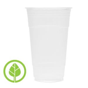 24 Oz. BLANK Eco-Friendly Clear PLA Plastic Cold Cup