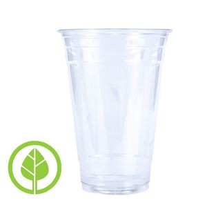 20 Oz. BLANK Eco-Friendly Clear PLA Plastic Cold Cup