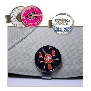 Golf Hat Clip / Enamel Ball Marker