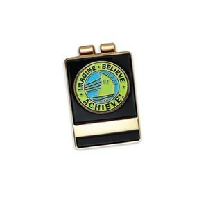 Nickel Plating Money Clip W/ Soft Enamel Ball Marker