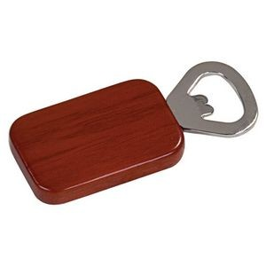 Rosewood Rectangular Bottle Opener with Magnet