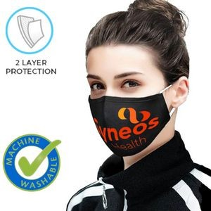 2 Layer Reusable Safety Face Mask w/ Full Color Custom Logo