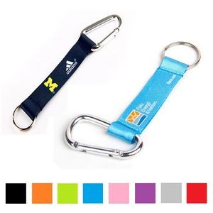 "Sublimated 3/4"" Pocket Lanyard w/Carabiner & Keyring"