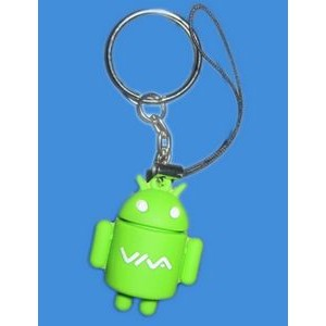 PVC Android Robot Toy Keychain