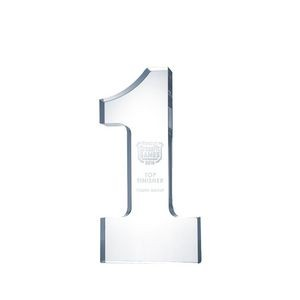Acrylic Number One Award (Small)