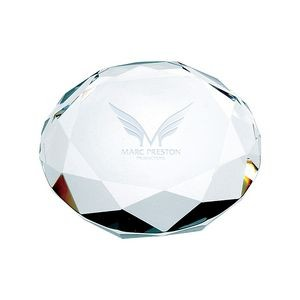 Octagon-cut Crystal Paperweight