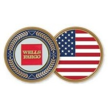 Stock Commemorative Brass US Flag Ball Marker Coin