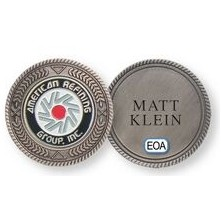 Stock Commemorative Pewter Ball Marker Coin
